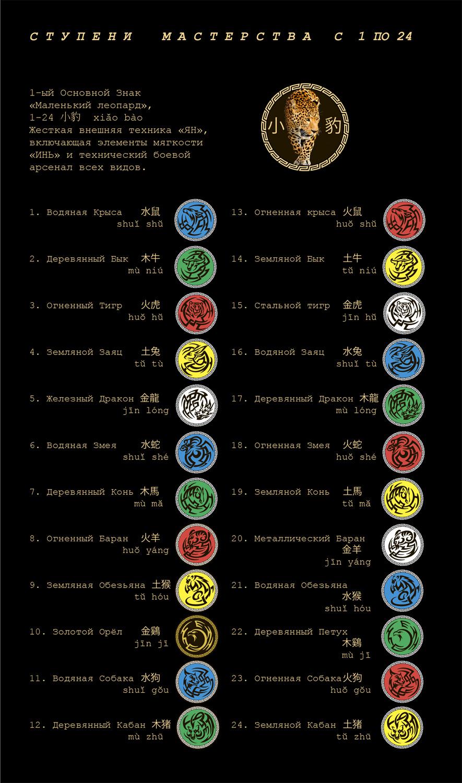 Школа боевого ушу Западный дракон: ступени мастерства 1-24
